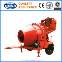 Hot Sale JZC350 Electric Motor Concrete Mixer With Hydraulic Hoist