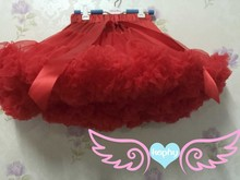little girls red dance wear Pettiskirt Tutu Skirt Fluffy Party tutu birthday wear