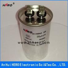 China HERO top quality CBB65 35uF 450VAC motor start energy saver capacitor