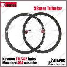 Construir Mano 700c de carbono bicicleta de carretera rueda 38mm tubular
