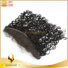 """Top selling 18"""" deep curl lace frontal hair pieces Brazilian hair lace frontal 13*4 free part in stock"""