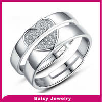 Hot Selling Fashion Wholesale adjustable sterling silver rings