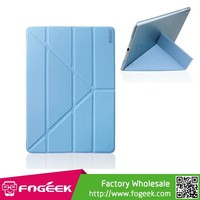 Paypal Accepted ENKAY PC Back Leather Smart Cover for iPad Air w/ Origami Stand