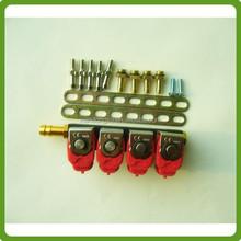 Lpg / gnc / gnv inyector del carril del inyector de gas para sistema de gas de automóviles