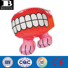 custom big inflatable teeth and mouth on legs display novelty mouth advertising party fancy dress decoration