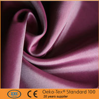 100%Polyester Cheap Curtain Fabric Supplier polyester white satin fabric for curtain