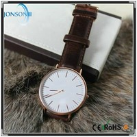 Minimalist 6mm super thin blank japan miyota watch 2115 mens wrist watches