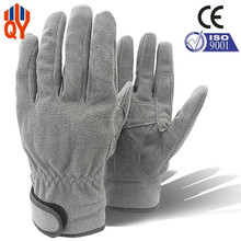 Gray Color Full Microfiber Leather Safety Working Gloves Equipment