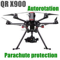new professional QR X900 aerial aircraft GPS FPV autorotation parachute protection alloy series rc helicopter