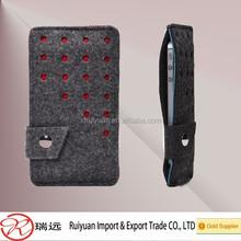 Free sample hot selling design felt cell phone cases manufacturer