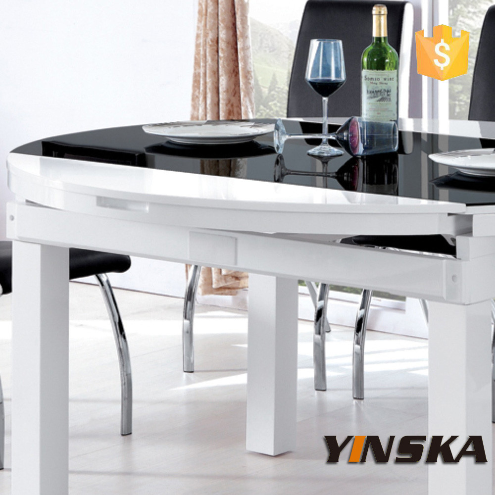 Furniture Expandable Glass Dining Table Buy Extendable