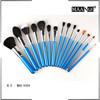 MAANGE 2015 best selling nylon hair wood handle 15 piece cosmetic brush set