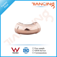 T201 Factory price large size pipe fitting copper long radius 45 deg elbow