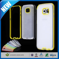 C&T Colorful Soft TPU Gel + Clear Hard PC Hybrid Bumper Protective Case Covers for samsung note 5 phone