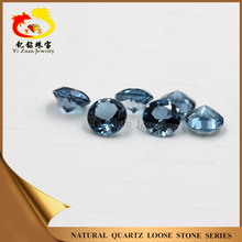 Man-made blue Crystal zirconium loose cubic zirconia stones round cut gemstone