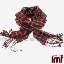 Christmas Plaid Scarf Tartan Red Scarf