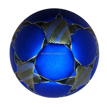 New design 2# mili METALIC Leather machine stitched football/soccer balls