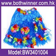 Hawaiian Fancy Dress Hula Skirt With Flowers