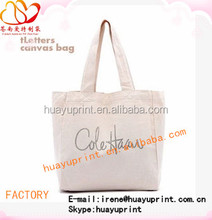 2015 natural canvas bag/ canvas wholesale tote bags