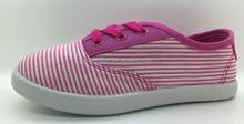 Child lace-up shoe china factory canvas shoe