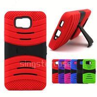 Wholesale Phone Cover Heavy Duty Kickstand Defender Combo Case for ZTE Radiant Z740