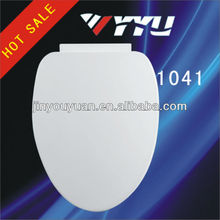 "19"" (L) PP Soft Close White Toilet Seat Cover 1041"