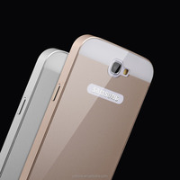 Wholesale factory price detachable metal bumper PC hard back case cover for samsung galaxy note 2