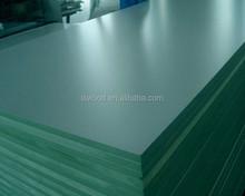 Titanium white melamine moisture resistant MDF Plate / Melamine Waterproof Green MDF