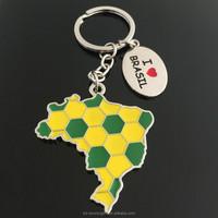 New Design Brazil Map Key Chain Brazil Tourist Souvenirs Key Chain