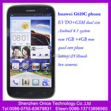 New Original mobile Huawei G610C dual sim dual model Telecom 3G+unicom 2G gsm Android OS 4.1 quad core 1G+4G cell