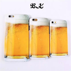 new creative beer mobile phone case for iphone 6 beer back cover