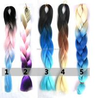 two tone synthetic braiding hairombre kanekalon braiding hair