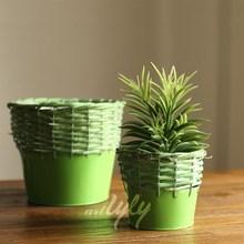 hecho a mano de flores de mimbre venta plantas para decoración de hogar