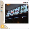 fast food menu board single side or double sides wall hanging restaurant fast food menu board