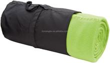 Light Weight Portable Polar Fleece Blanket for promotion, car, picnic, camping