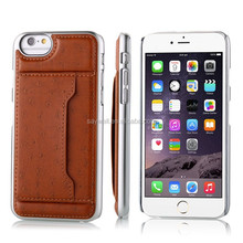 Convenient back cover case for iphone 6 with card slot and holder function