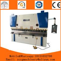 100ton stainless steel hydraulic press brake 4mm plate bender machine CNC hydraulic metal plate angle bender