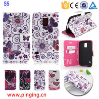 for samsung galaxy s5 case leather, fancy cell phone cover case for samsung galaxy s5 i9600