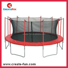 High quality CreateFun factory supply durable 14ft big round trampoline comb with enclosure