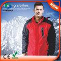 Hj08 7.4v calefacción de la moda nueva llegada de cuero de la pu chaqueta para los hombres