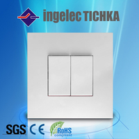 manufacture 2 gang flush mounted light switch