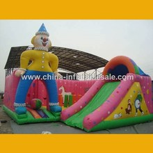 New Style Cheap Clown outdoor inflatable slide H2-1069