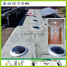 Perfect combination of tubular skylight and solar panel