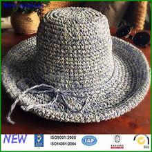 Wholesale colour mixture crochet bucket hat Factory Custom colour mixture crochet bucket hat