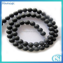 HSQ-6700 fashion jewelry natural stone beads black matte agate beads