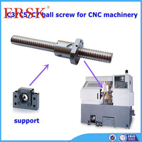 Fast delivery time TBI motion's rolled ball screw made in china with plastic deflector ballscrew nut