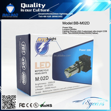 Lifetime warranty 3rd generation led motor headlight m02d 30w with Cooling Fan