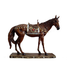 High Quality Plated Resin Horse Sculptures / Resin Elephants Animals Statues For Home / Office Decoration