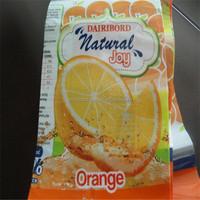 colorful juice plastic packaging bag/film