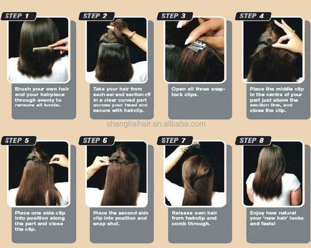 Ombre Skin Weft Seamless Clip In Hair Extensions Buy Seamless Hair